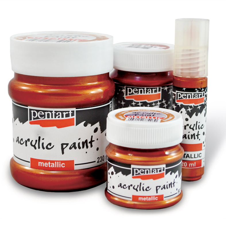 Akrylová farba metalická - 20 ml (akrylové farby PENTART)
