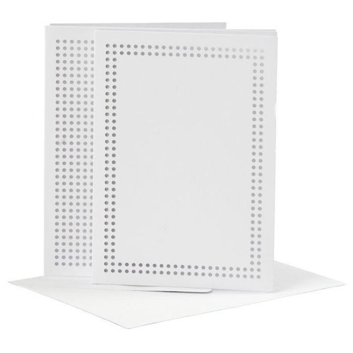 Dvojitá pohľadnica s dierami na vyšívanie a obálkou A6 - 6ks