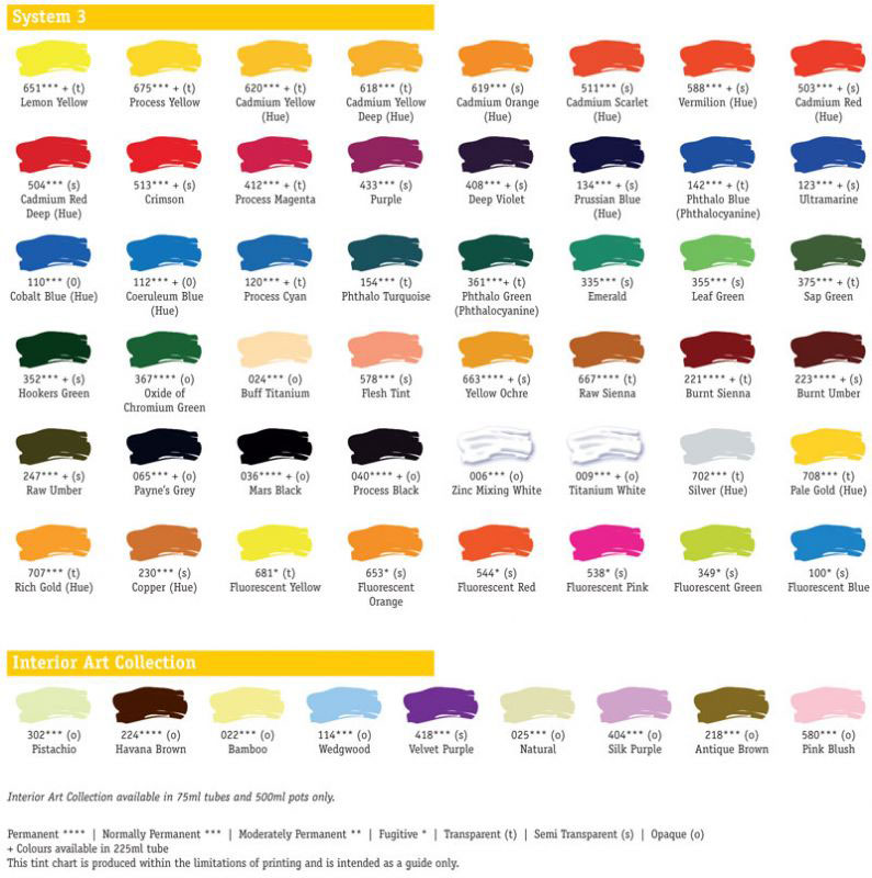 List Of All Acrylic Paints In Metallic