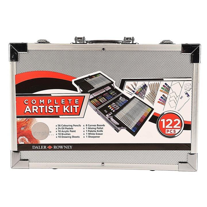 Veľký umelecký set Daler-Rowney Complete Artist Kit - 122 dielny