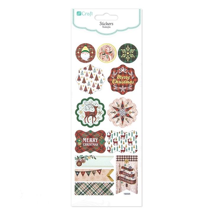 Vianočné nálepky Merry Christmas / 13 ks