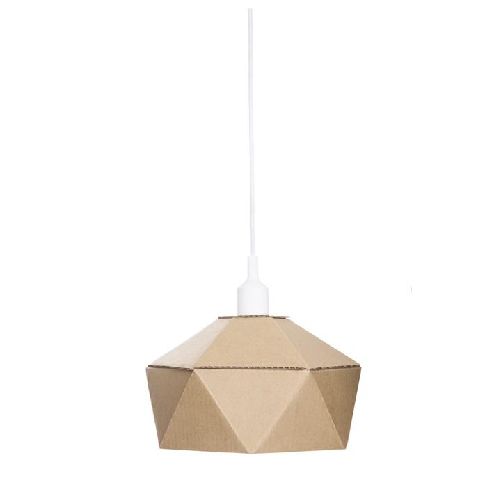 Lampa z kartónu DIY 30 x 16 cm