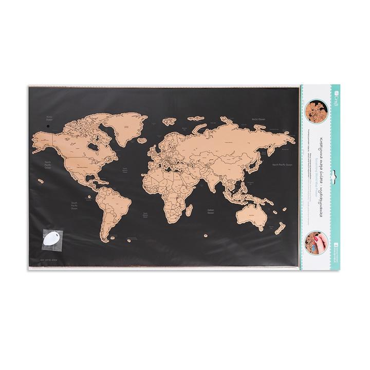 Kreatívna mapa sveta 60x40 cm