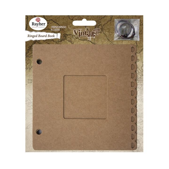 Kartónová kniha s krúžkami 15.2 x 15.2 cm