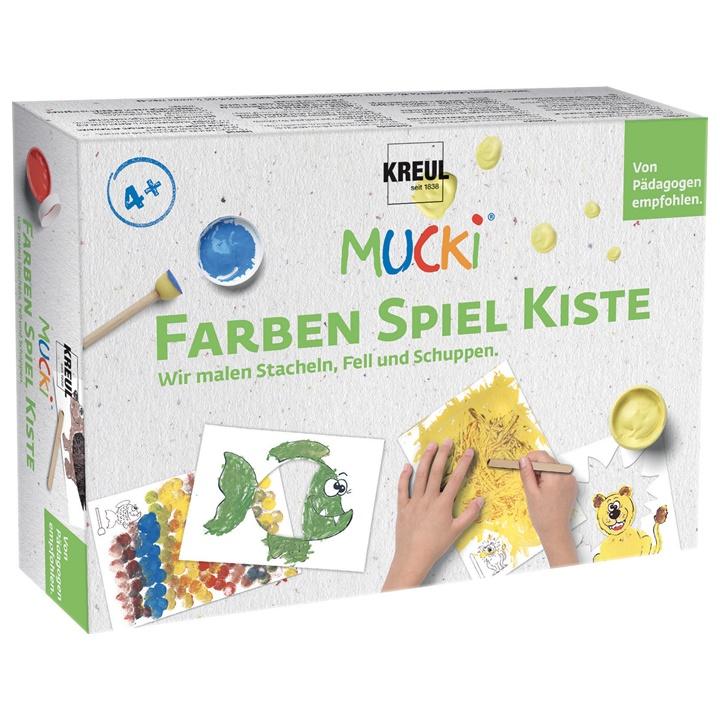 Sada prstových farieb MUCKI - Maľujeme ostne - kožušiny - šupiny