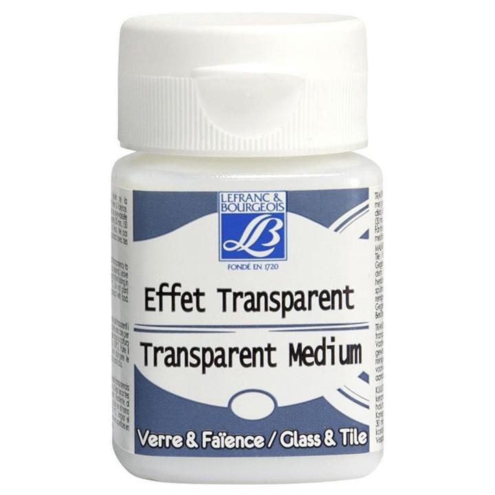 Transparentné médium Lefranc & Bourgeois pre farby na sklo 50 ml