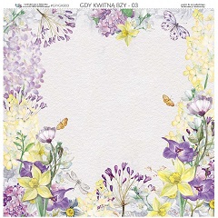 Obojstranný papier na scrapbooking 30.5 x 30.5 cm – When Lilacs Bloom 03