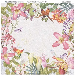 Obojstranný papier na scrapbooking 30.5 x 30.5 cm – When Lilacs Bloom 01
