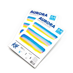 Akvarelový blok AURORA cold press - 12 listový