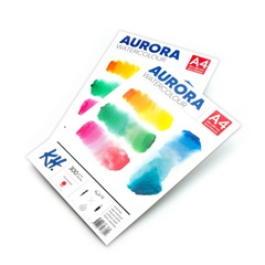 Akvarelový blok AURORA hot press - 12 listový