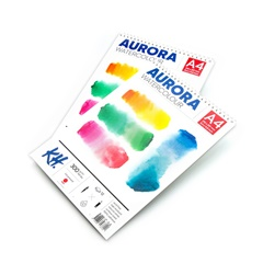 Akvarelový blok AURORA hot press so špirálou - 12 listový
