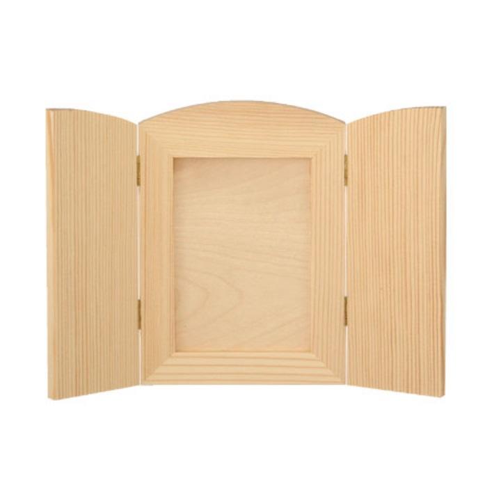 Drevený rámček na fotografiu – otvárací