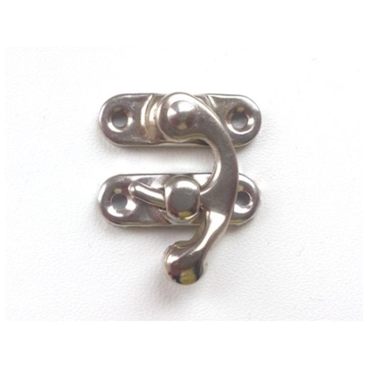 Kovové zapínanie nikel 2.9x3.2 cm - 1 ks