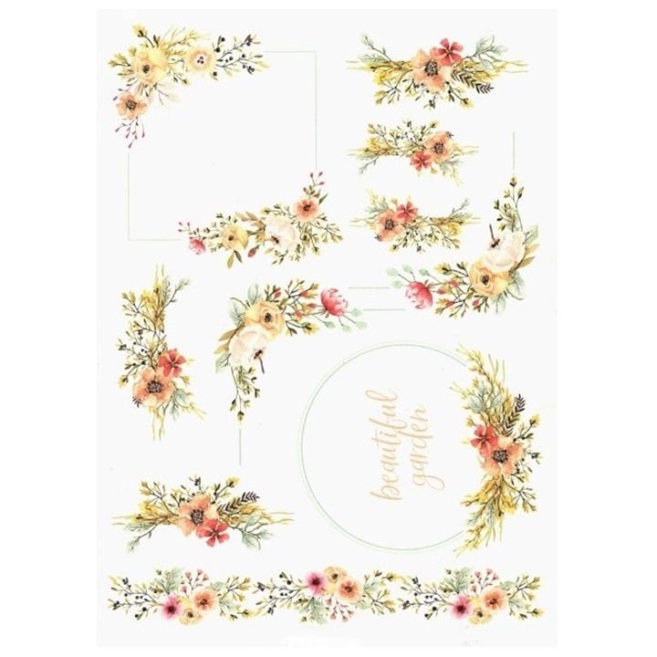 Ryžový papier A4 ITD – Kvetinové rámčeky 4