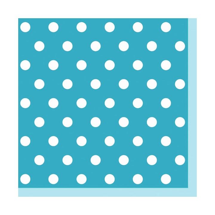 Servítky na dekupáž – Modrá s bodkami – 1 ks