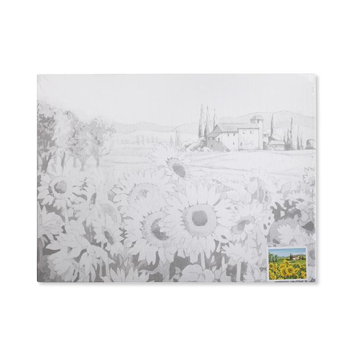 Plátno na lepenke so skicou umeleckého diela Van Gogh - Sunflowers