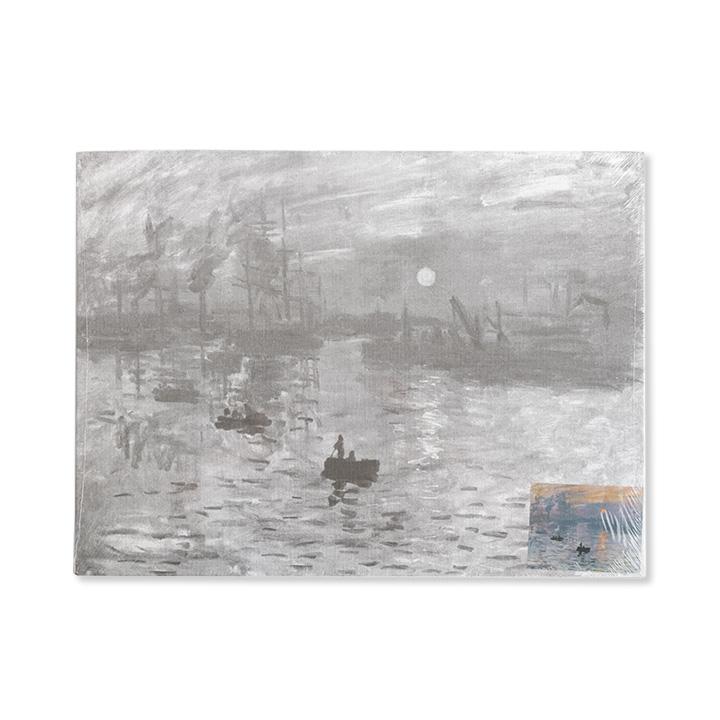 Plátno na lepenke so skicou umeleckého diela Monet - Impression Sunrise
