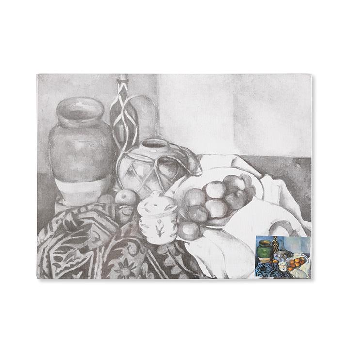 Plátno na lepenke so skicou umeleckého diela Cézanne - Still life with apples