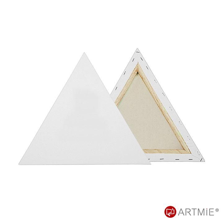 Háromszög alakú feszített festővászon 30x30x30 cm