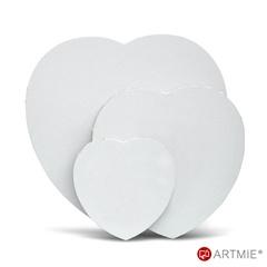 Szív alakú feszített festővászon