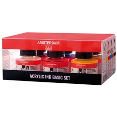 Akrylový atrament Amsterdam - Basic set / 6 x 30 ml