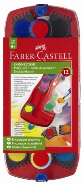 Vodové farby 12 farebné stavebnicové (vodové farby Faber Castell)