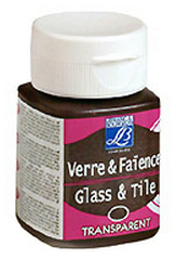 Farba GLASS & TILE - TRANSPARENT 50ml (trasparentné farby na sklo,keramiku a porcelán)
