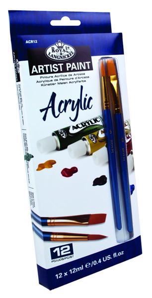Akrylové farby ARTIST Paint 12x12ml (maliarský set Royal & Langnickel )