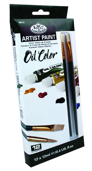 Olejové farby ARTIST Paint 12x12ml (maliarska sada maliarský set Royal & Langnickel)