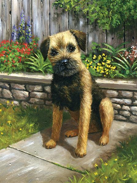 Kreatívny set na maľovanie - Pes v záhrade (sada na maľovanie podľa čísel Royal & Langnickel)