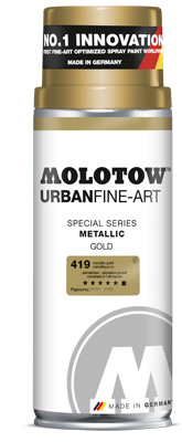 Spreje graffiti MOLOTOW™ UFA Metallic 400 ml