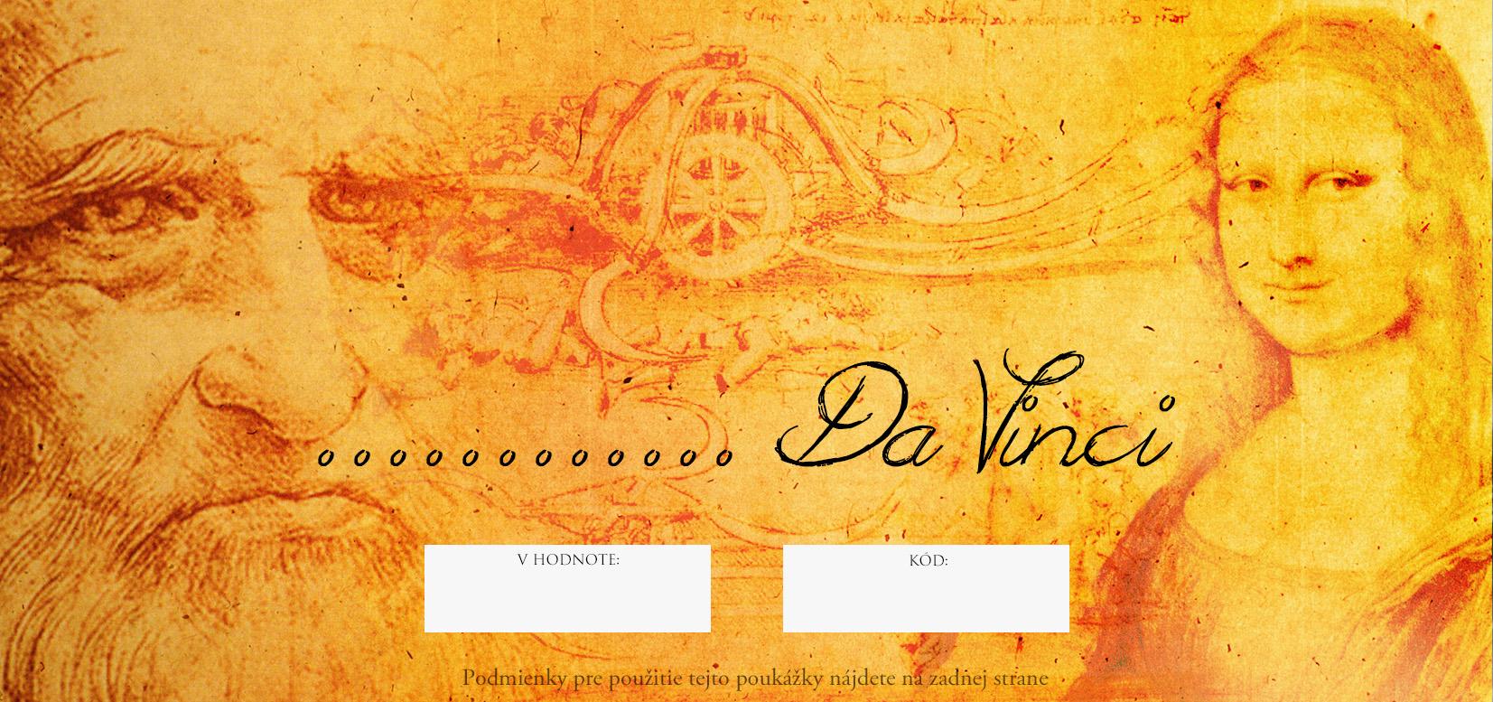 Darčekový POUKAZ - Da Vinci (umelecké potreby)