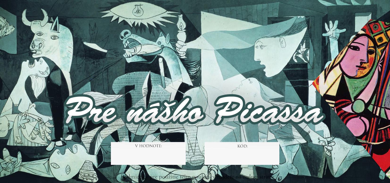 Darčekový POUKAZ - Pre nášho Picassa (umelecké potreby)