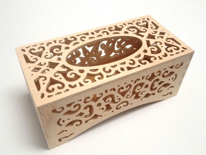 Ažúrová krabička na vreckovky (drevené polotovary na dekupáž)