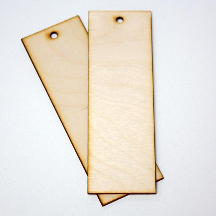 Drevená záložka do knihy 15 x 5 cm (drevené výrezy z preglejky)