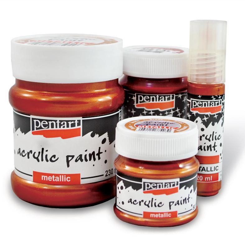 Akrylová farba metalická - 50 ml (akrylové farby PENTART)