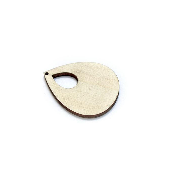 Drevený polotovar na výrobu bižutérie - slzička (drevené polotovary na kreatívnu tvorbu)