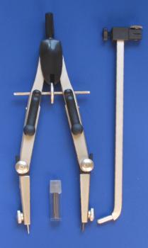 Kružidlo rýchloprestaviteľné s predlžovačom 170 mm (Technické kružidlá)