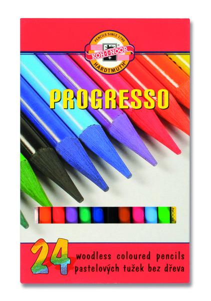 Sada pastelových ceruziek v laku PROGRESSO / 24 dielna (pastelové ceruzky KOH-I-NOOR)
