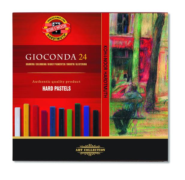 Tvrdé olejové pastely GIOCONDA / 24 dielny set (olejové pastely KOH-I-NOOR)