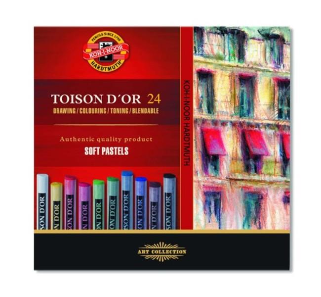 Sada suchých pastelov TOISON D OR / 24 dielna (suché pastely KOH-I-NOOR)