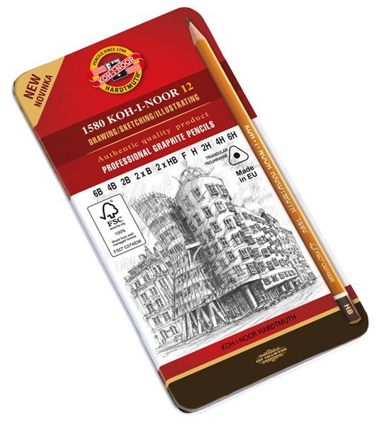 Sada grafitových ceruziek KOH-I-NOOR / 12 dielna (grafitové ceruzky KOH-I-NOOR)