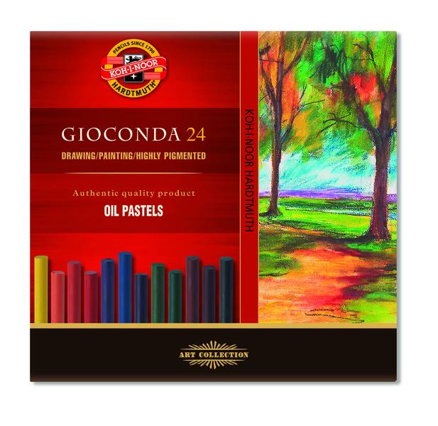 Sada umeleckých olejových kried - GIOCONDA - 24 ks