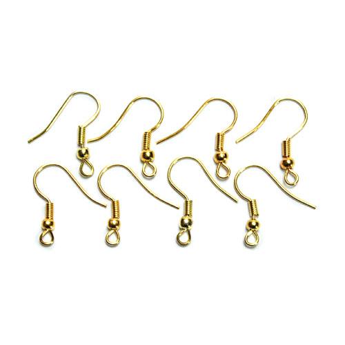 Kovové háčiky pre náušnice - zlatá farba