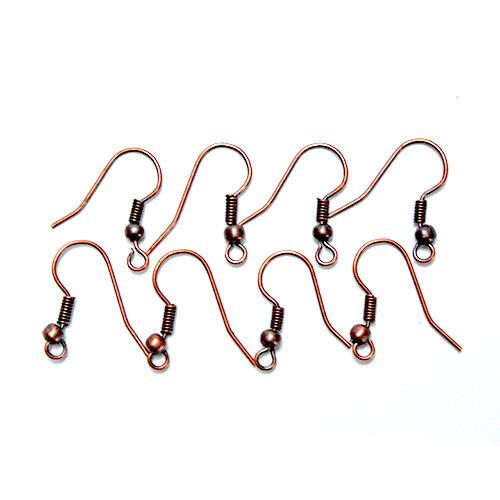 Kovové háčiky pre náušnice - bronzová farba