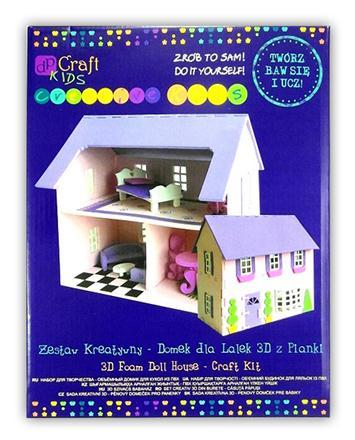 Kreatívna sada - penový 3D domček pre bábiky
