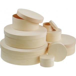 Okrúhly box z preglejky / rôzne rozmery (drevené polotovary na dekupáž)