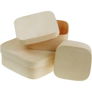 Štvorcový box z preglejky / rôzne rozmery (drevené polotovary na dekupáž)