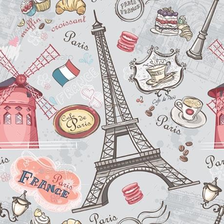Servítky na DEKUPÁŽ - Eiffelova veža - 1ks