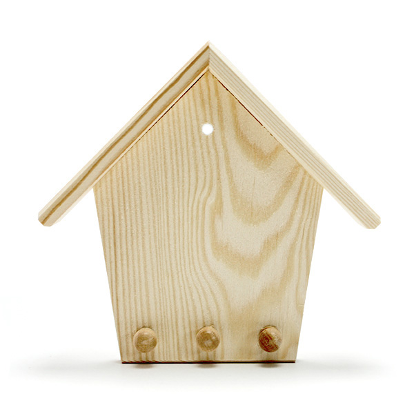 Drevený domček na kľúče